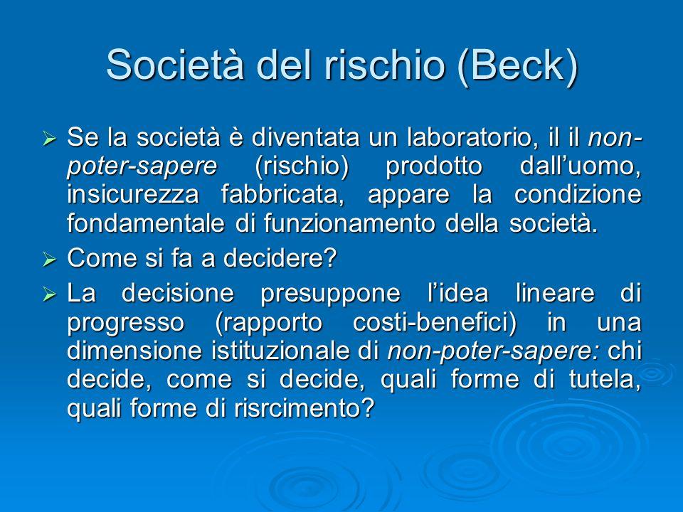 Società del rischio (Beck)