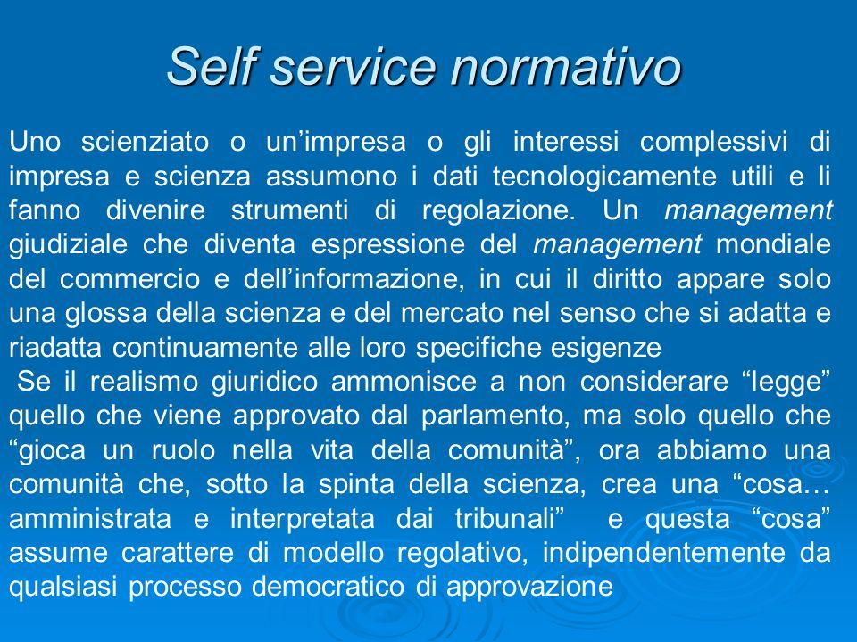 Self service normativo