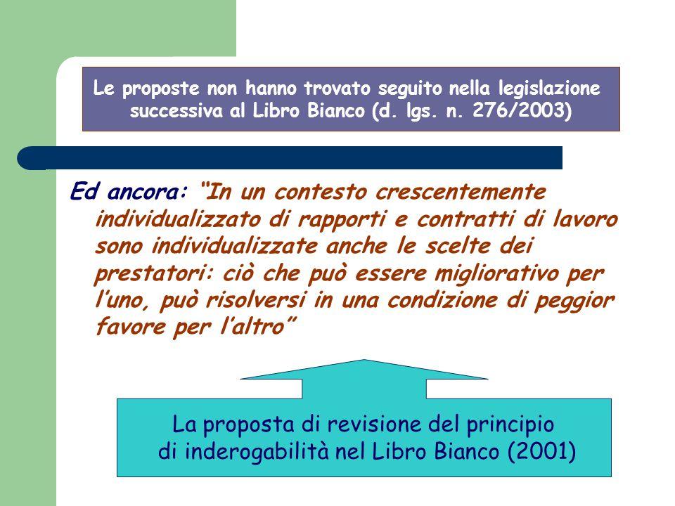La proposta di revisione del principio