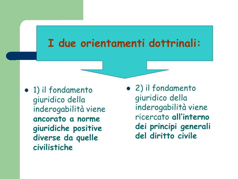 I due orientamenti dottrinali: