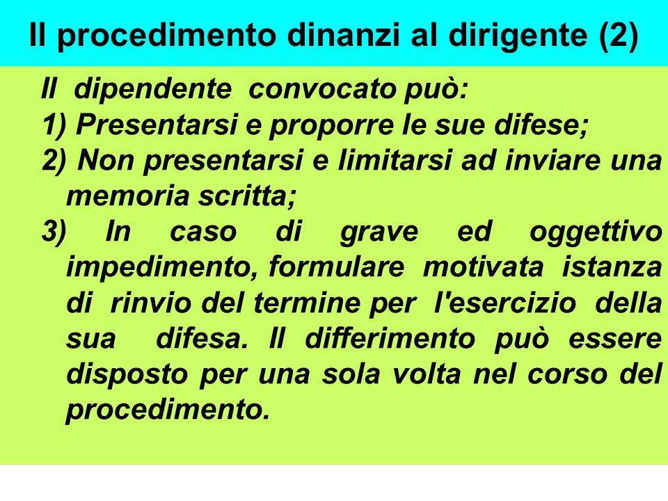 Il procedimento dinanzi al dirigente (2)