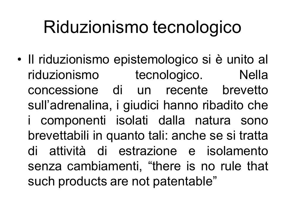 Riduzionismo tecnologico