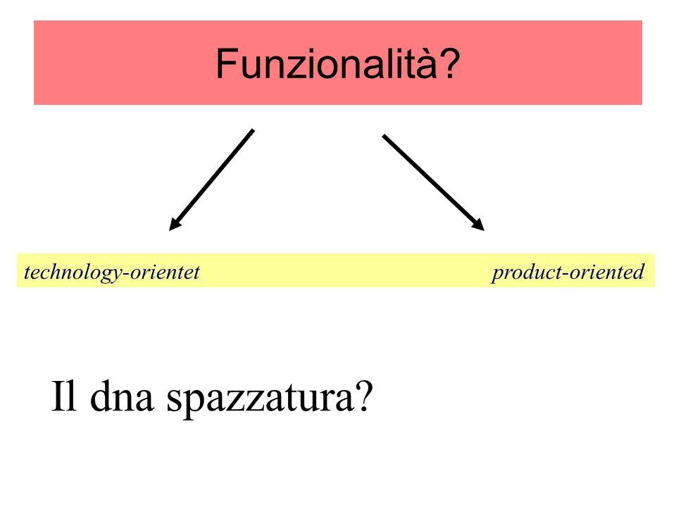 Funzionalità technology-orientet product-oriented.