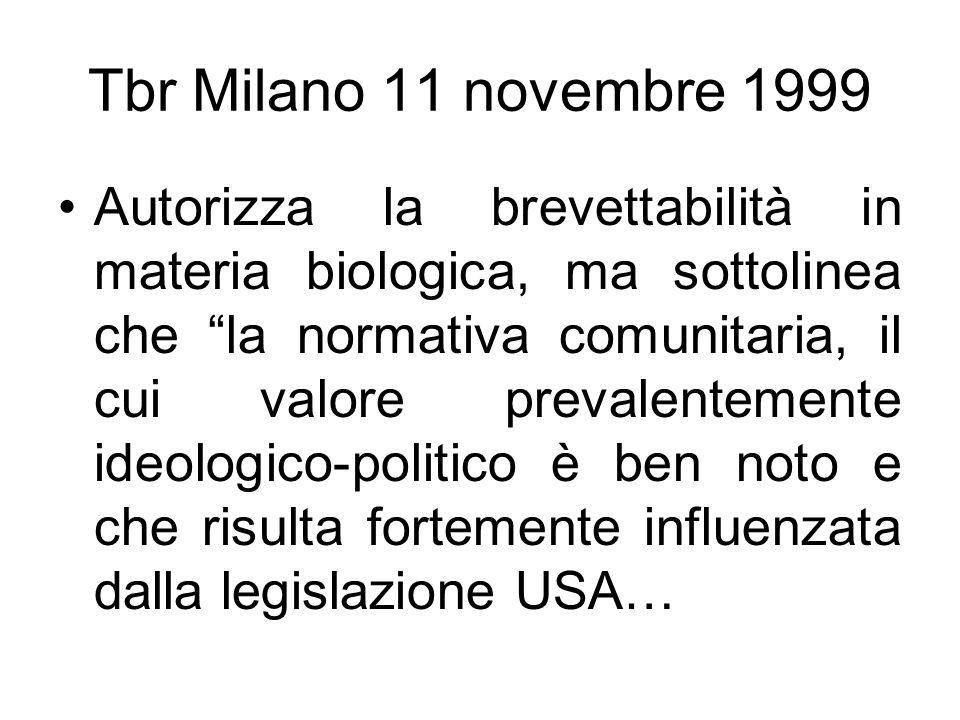 Tbr Milano 11 novembre 1999
