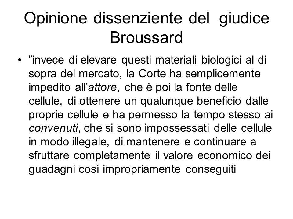 Opinione dissenziente del giudice Broussard