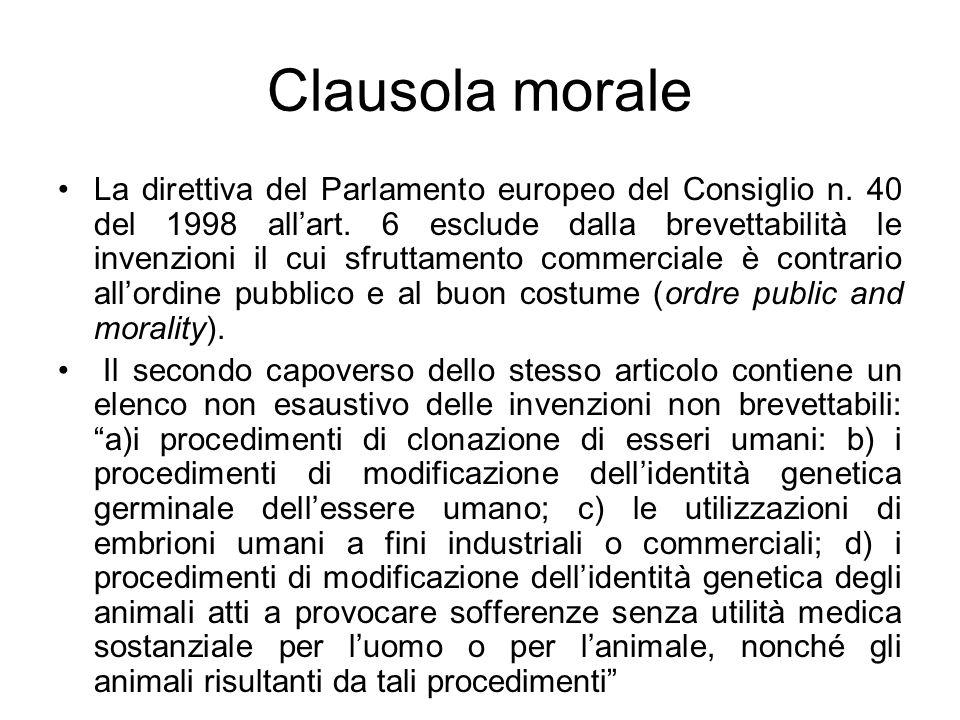 Clausola morale