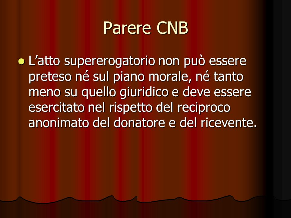 Parere CNB