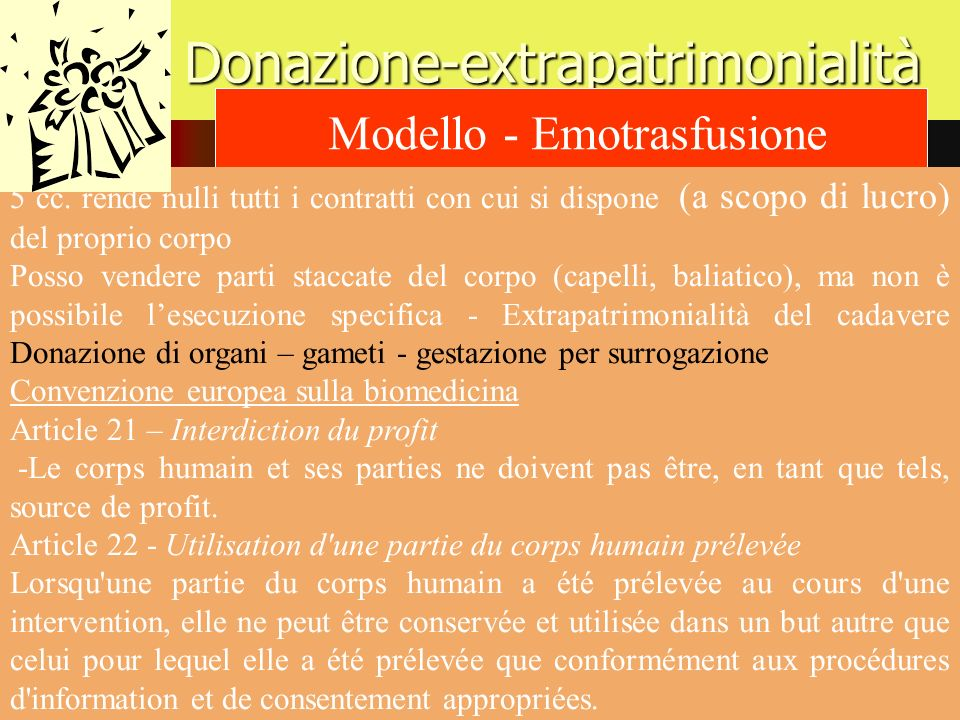 Donazione-extrapatrimonialità
