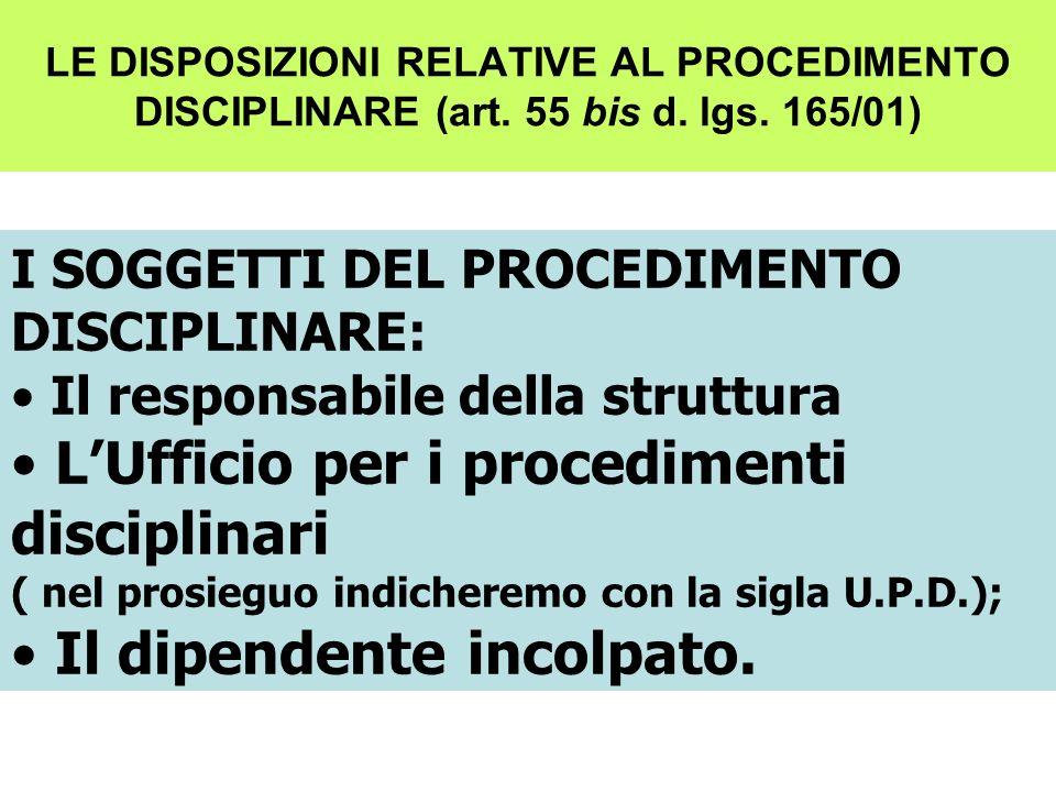 L'Ufficio per i procedimenti disciplinari