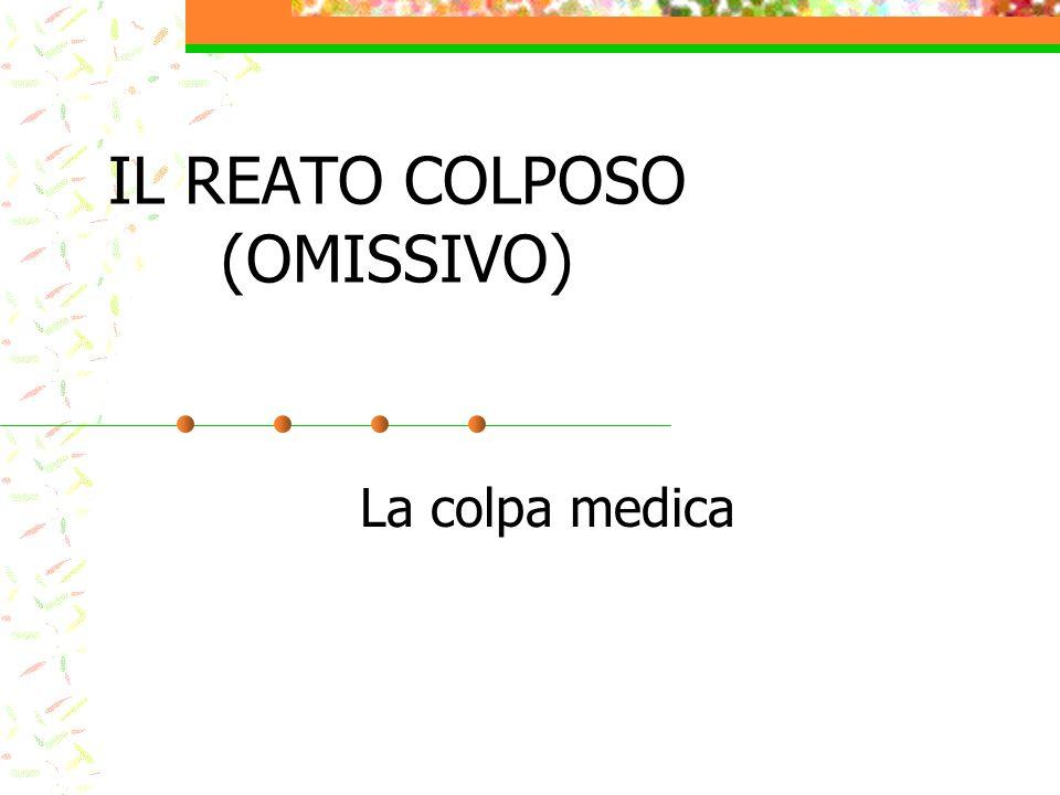 IL REATO COLPOSO (OMISSIVO)