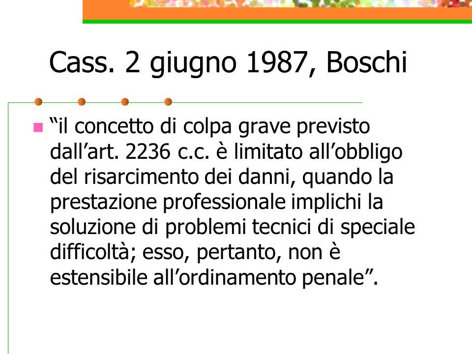 Cass. 2 giugno 1987, Boschi