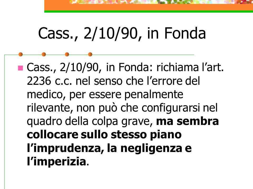 Cass., 2/10/90, in Fonda