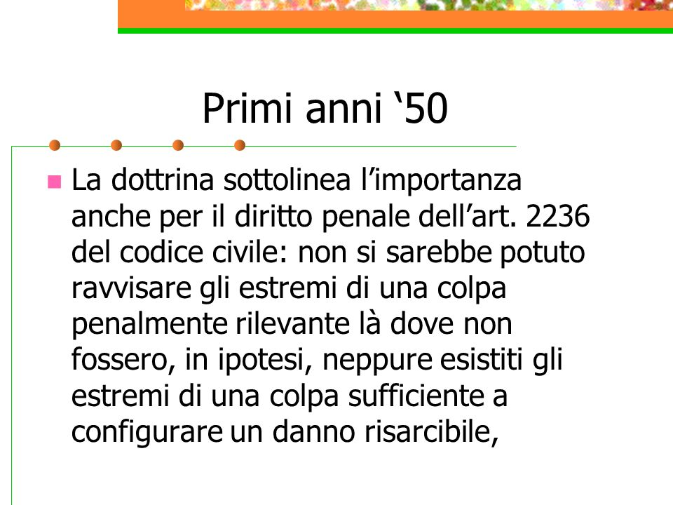 Primi anni '50