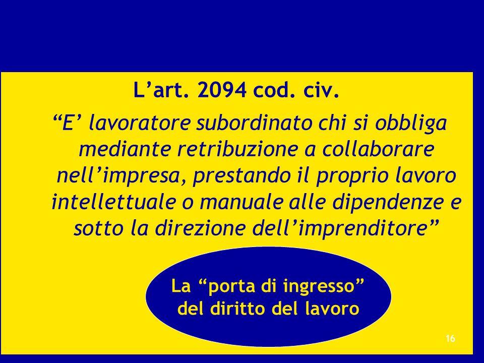 L'art. 2094 cod. civ.