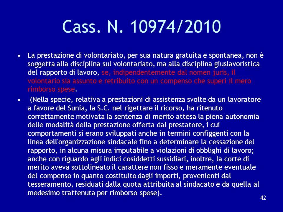 Cass. N. 10974/2010