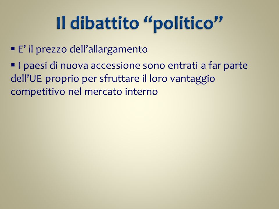 Il dibattito politico