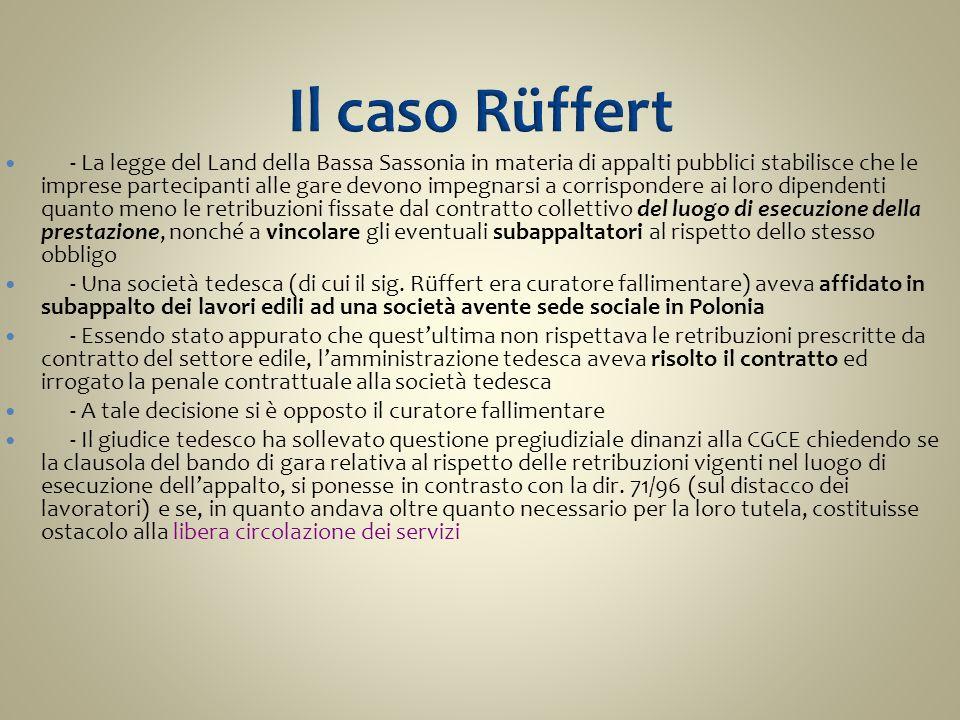 Il caso Rüffert