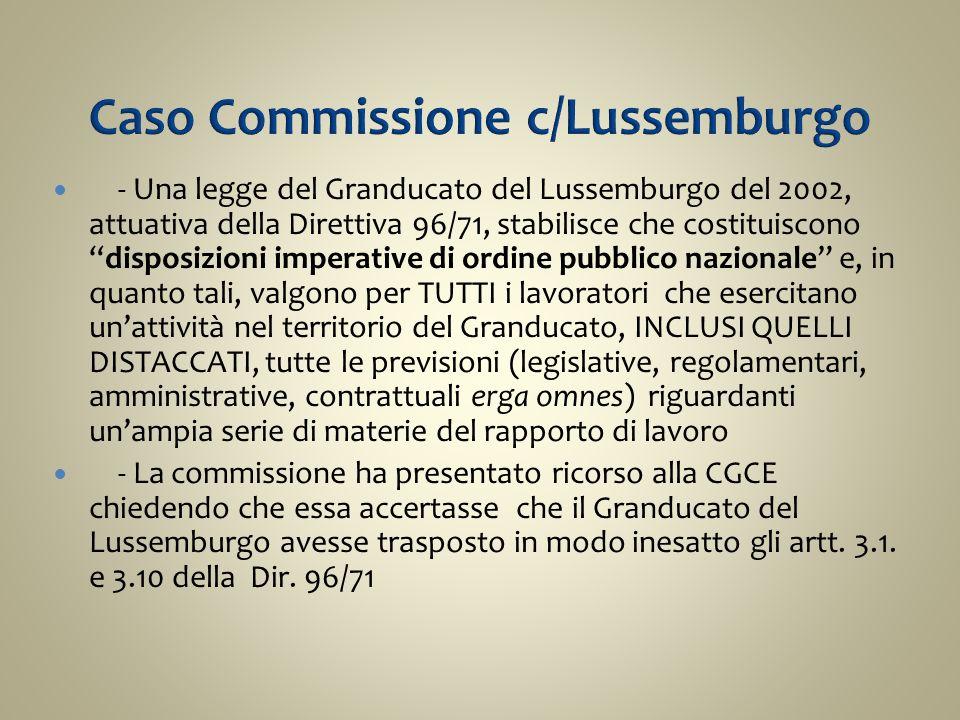 Caso Commissione c/Lussemburgo