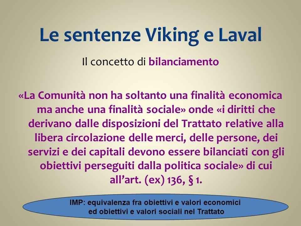Le sentenze Viking e Laval