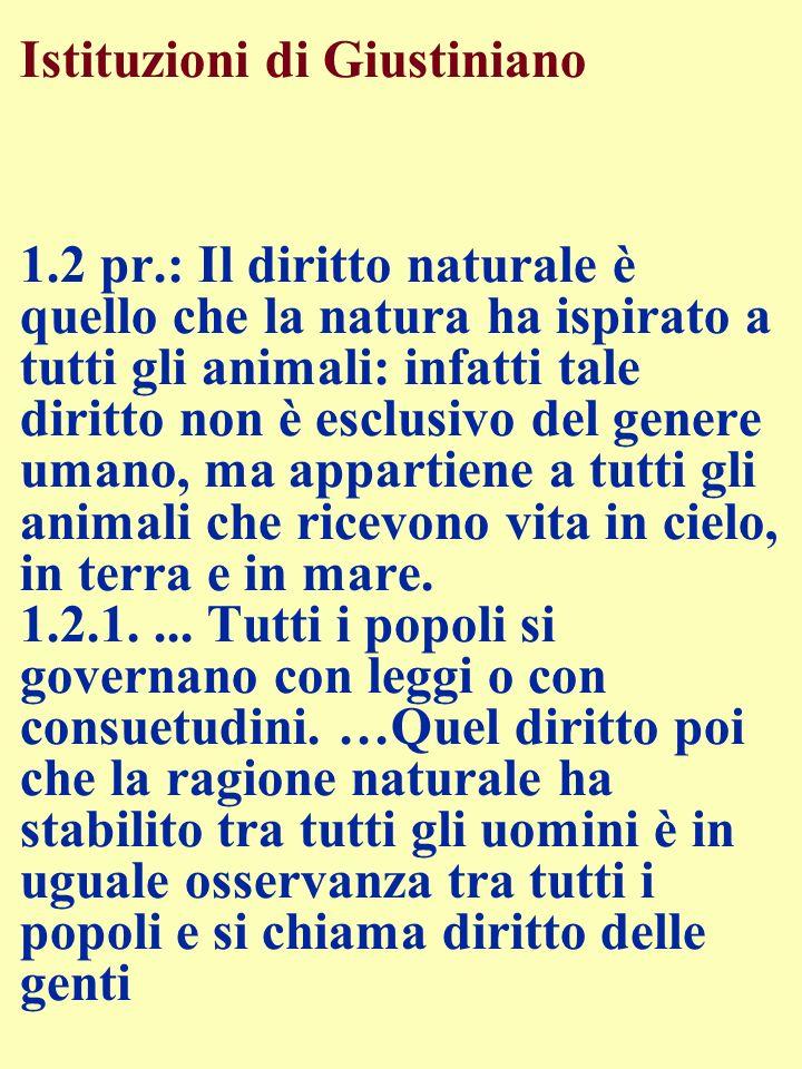 Istituzioni di Giustiniano 1. 2 pr