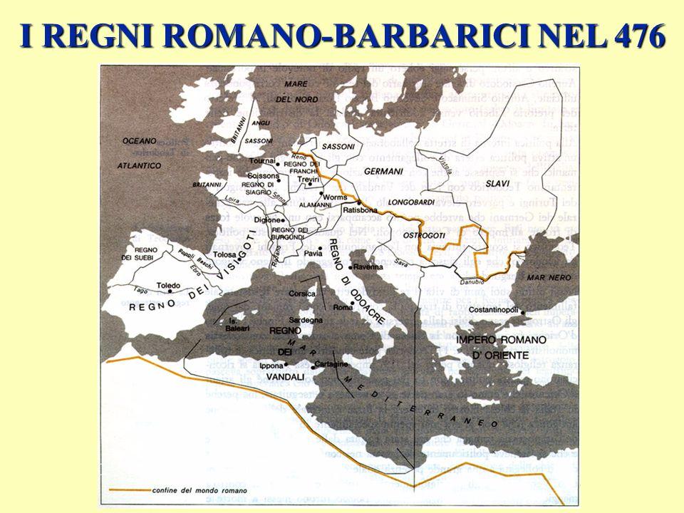 I REGNI ROMANO-BARBARICI NEL 476