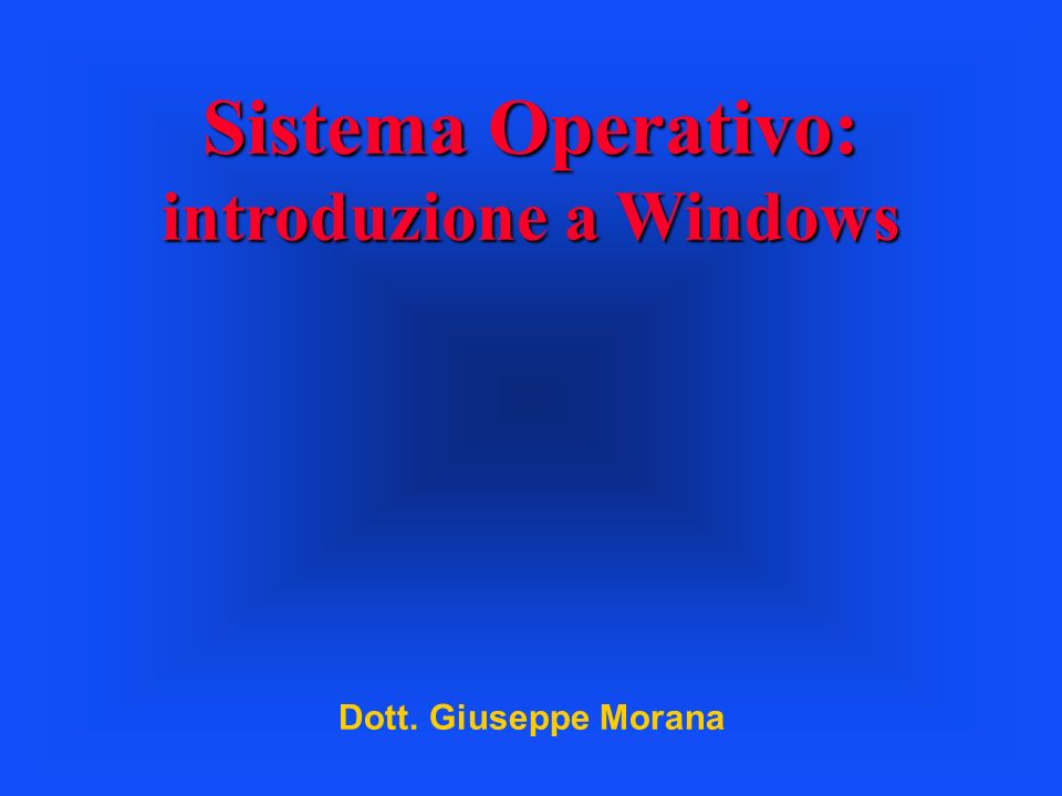 introduzione a Windows