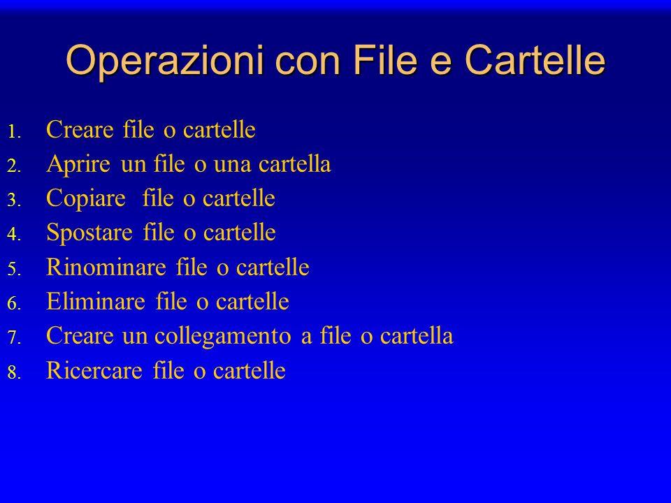 Operazioni con File e Cartelle
