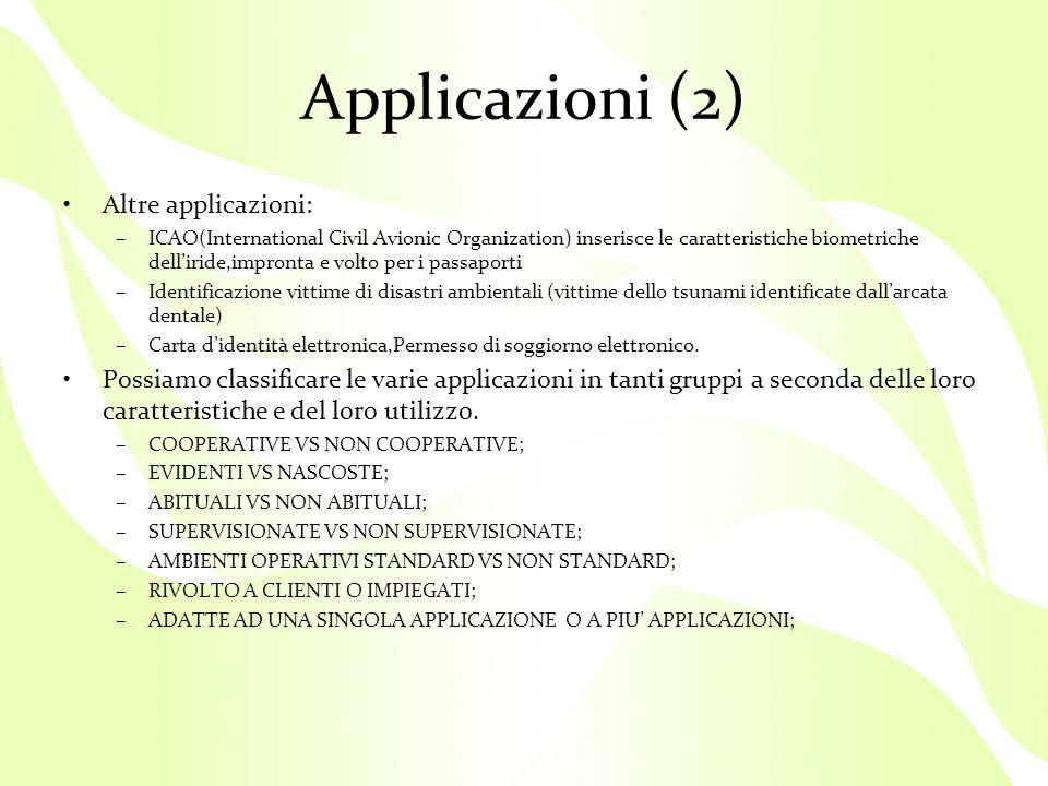 Applicazioni (2) Altre applicazioni:
