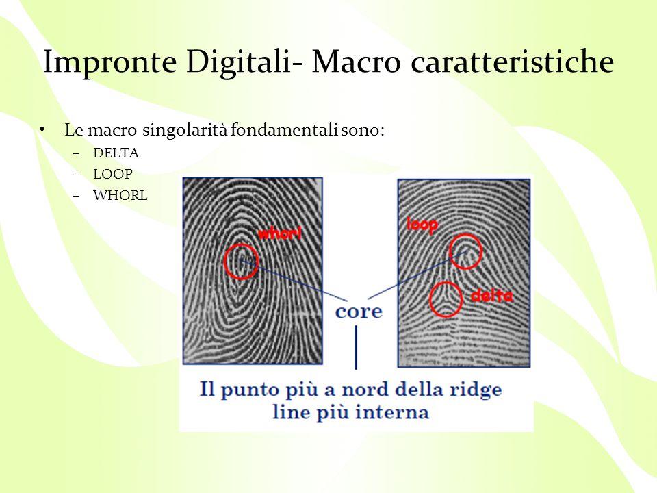 Impronte Digitali- Macro caratteristiche