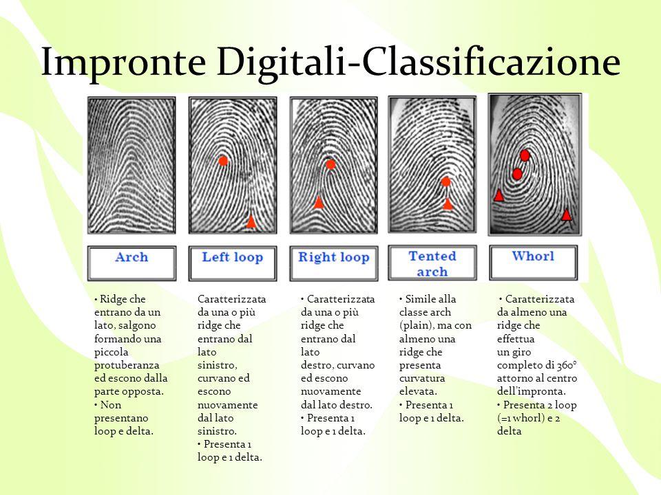 Impronte Digitali-Classificazione