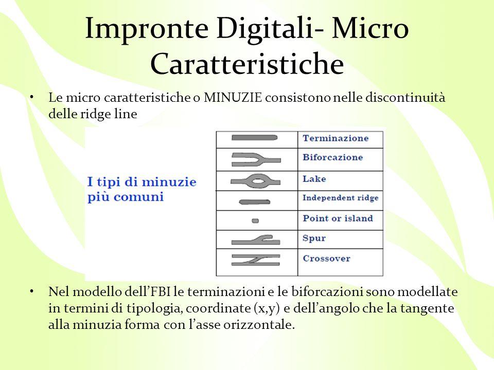 Impronte Digitali- Micro Caratteristiche