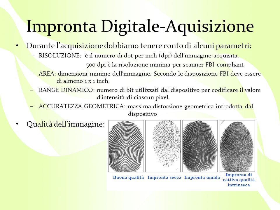 Impronta Digitale-Aquisizione