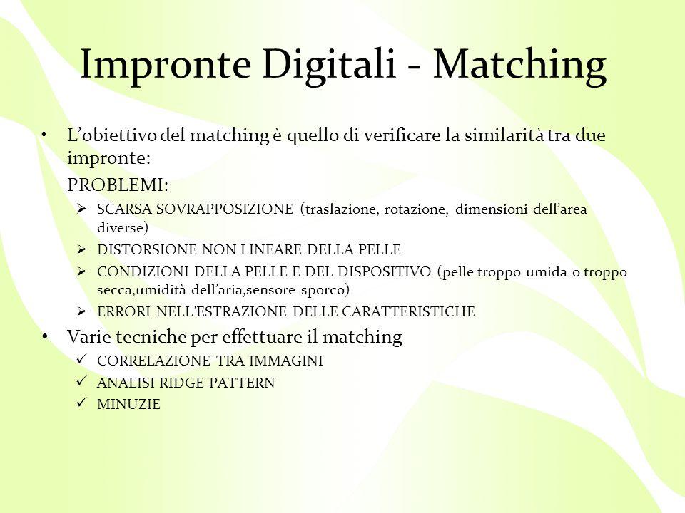 Impronte Digitali - Matching