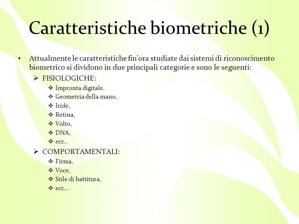 Caratteristiche biometriche (1)