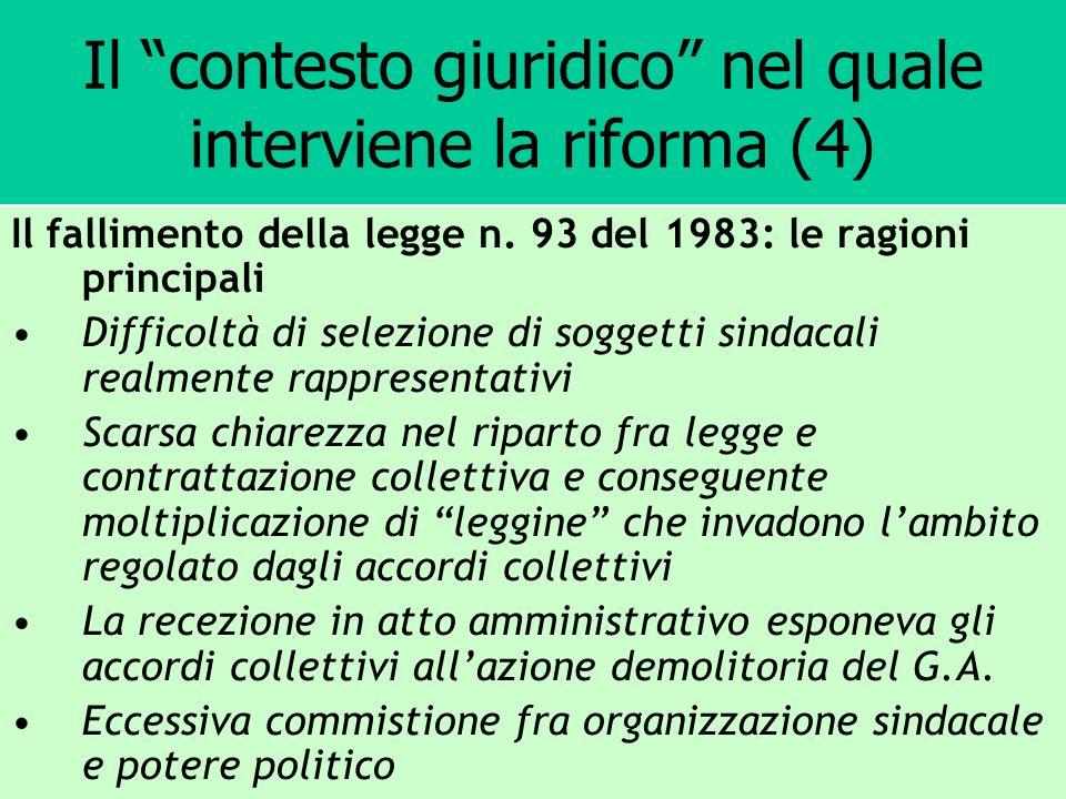 Il contesto giuridico nel quale interviene la riforma (4)