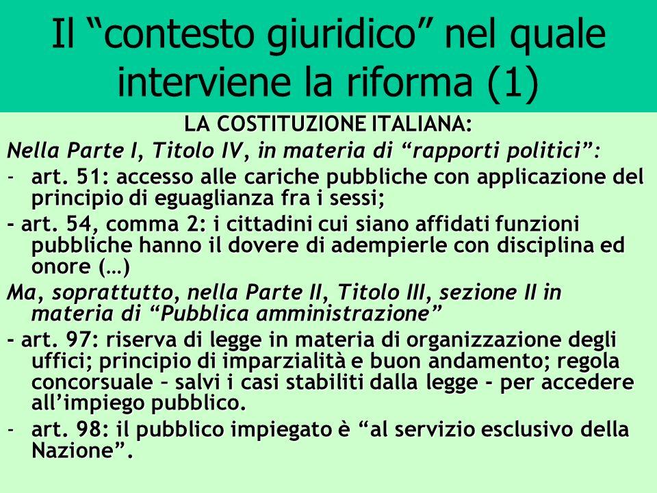 Il contesto giuridico nel quale interviene la riforma (1)