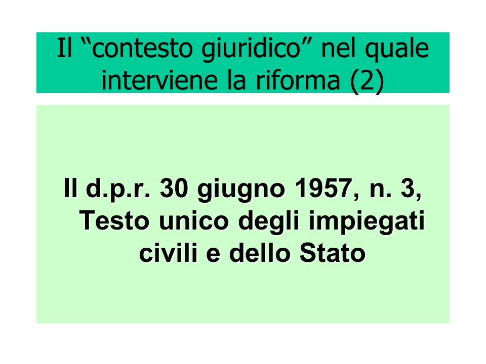 Il contesto giuridico nel quale interviene la riforma (2)