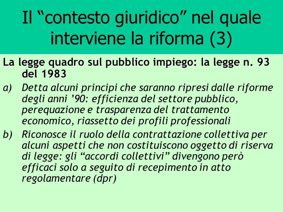 Il contesto giuridico nel quale interviene la riforma (3)