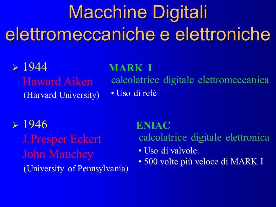 Macchine Digitali elettromeccaniche e elettroniche