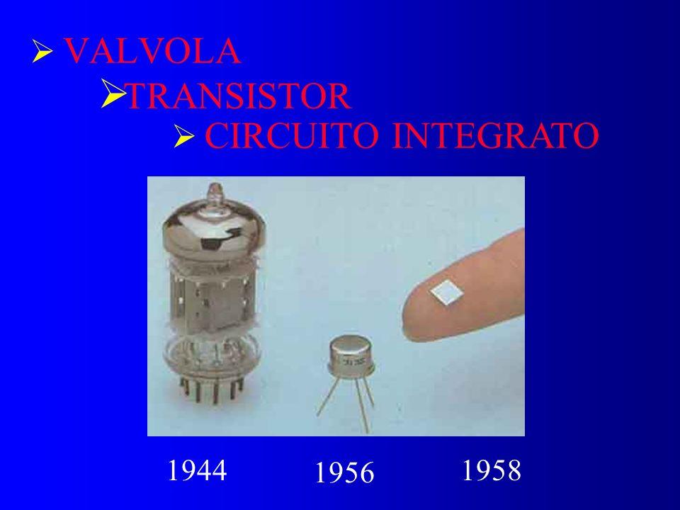 VALVOLA TRANSISTOR CIRCUITO INTEGRATO 1944 1956 1958