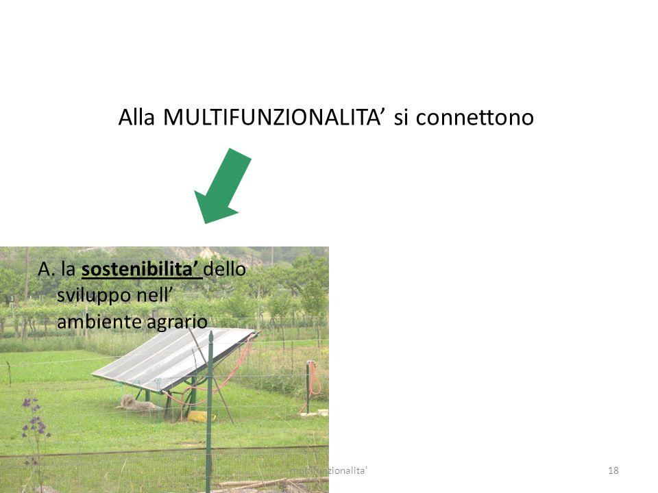 Alla MULTIFUNZIONALITA' si connettono