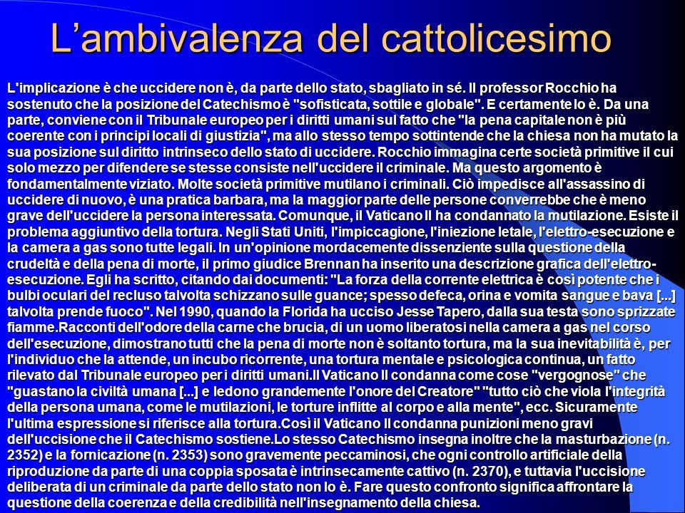 L'ambivalenza del cattolicesimo