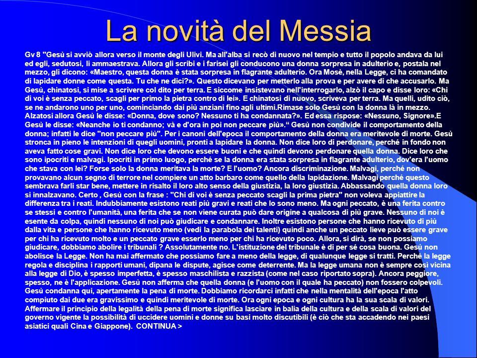 La novità del Messia