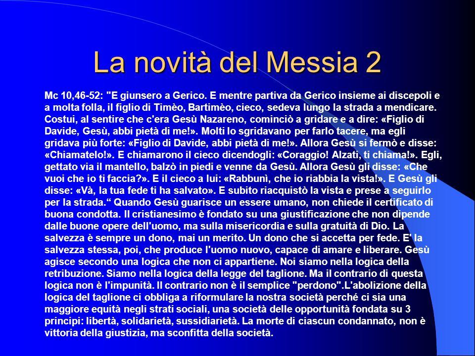 La novità del Messia 2