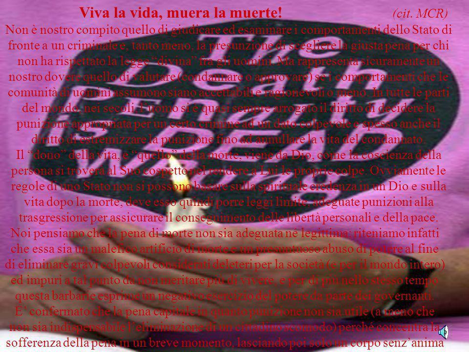 Viva la vida, muera la muerte! (cit. MCR)