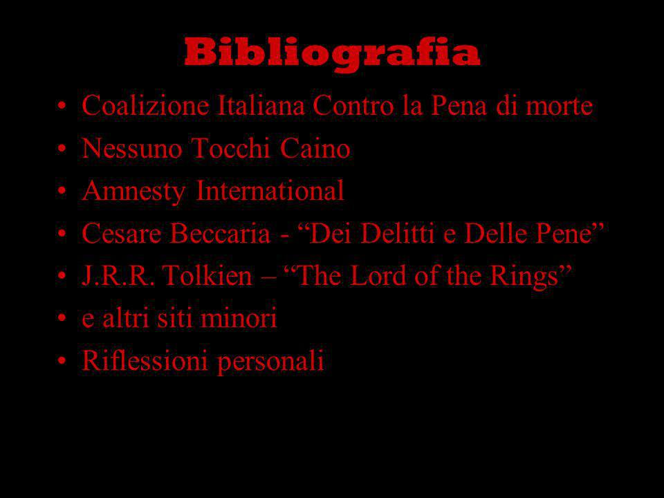 Bibliografia Coalizione Italiana Contro la Pena di morte