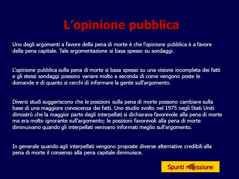 L'opinione pubblica Spunti riflessione