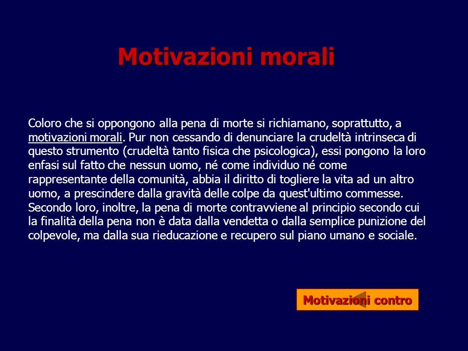 Motivazioni morali