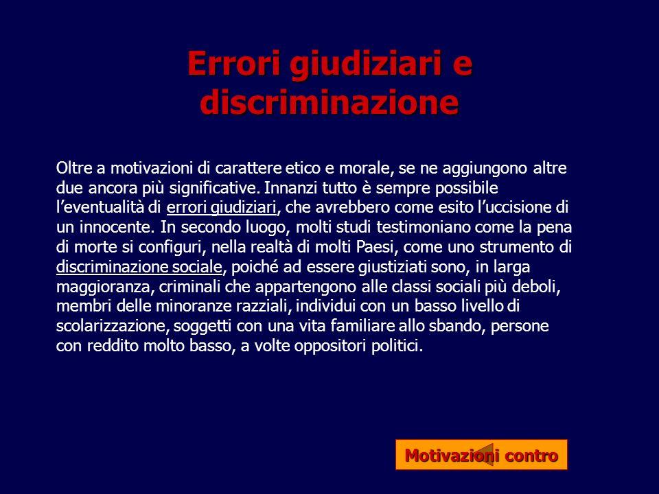 Errori giudiziari e discriminazione