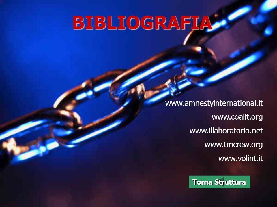 BIBLIOGRAFIA www.amnestyinternational.it www.coalit.org